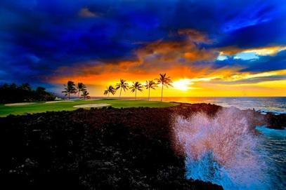 Beach Course at Waikoloa Beach Resort-Island of Hawaii
