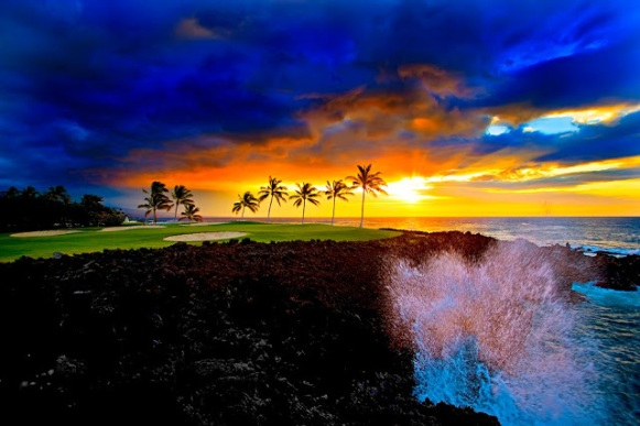 Beach Course at Waikoloa Beach Resort-Island of Hawaii