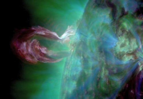 "FROM SOLAR dynamics observatory. ""the hidden choir"" cme of may 9, 2015"